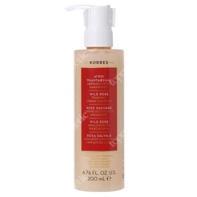 Korres Wild Rose Foaming Cream Cleanser Pianka oczyszczająca do mycia twarzy 200 ml