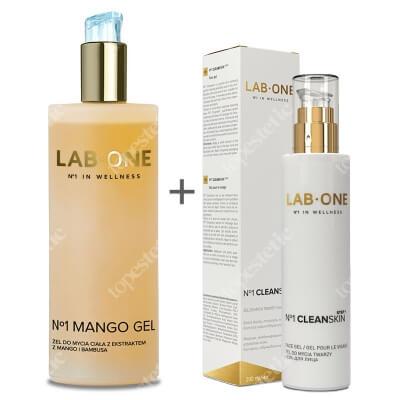 Lab One Cleanskin step 1 + Mango Gel ZESTAW Żel do mycia twarzy 200 ml + Żel do mycia ciała 400 ml