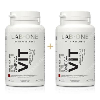 Lab One N°1 Omega Vit ZESTAW Dwupak witaminy i kwasy tłuszczowe Omega-3 2x 60 kaps.