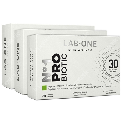 Lab One N°1 ProBiotic ZESTAW ProBiotic suplement diety 3x30 kaps.