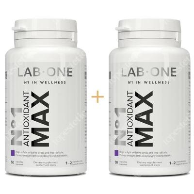 Lab One No1 Antioxidant Max ZESTAW Dwupak silne antyoksydanty 2x 50 kaps.