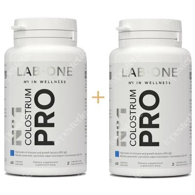 Lab One No1 Colostrum Pro ZESTAW Dwupak naturalne wsparcie dla układu immunologicznego 2x 60 kaps.