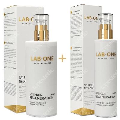 Lab One No1 Hair Regeneration step 1 + No1 Hair Regeneration step 2 ZESTAW Szampon regenerujący 400 ml + Odżywka regenerująca 200 ml