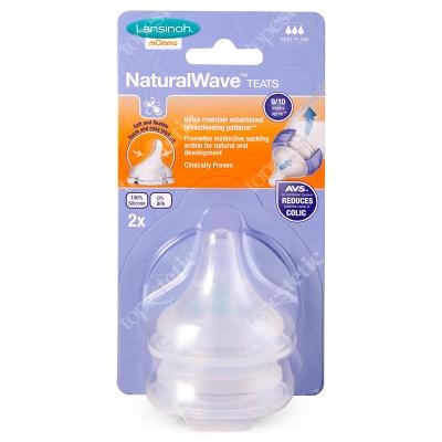 Lansinoh Natural Wave Teats Fast Flow Smoczek o szybkim przepływie 2 szt.