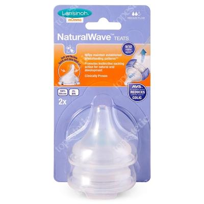 Lansinoh Natural Wave Teats Medium Flow Smoczek o średnim przepływie 2 szt.