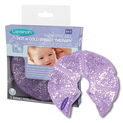 Lansinoh TheraPearl Hot or Cold Breast Therapy Kompresy żelowe 3 w 1