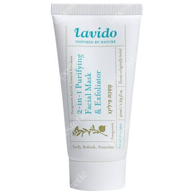 Lavido 2 in 1 Purifying Facial Maska and Exfoliator Odmładzająca i złuszczająca maseczka do twarzy 50 ml