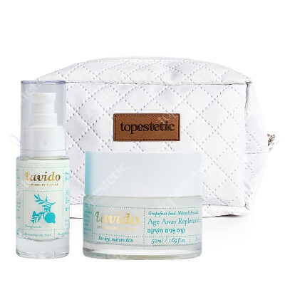 Lavido Alert Eye Cream + Age Away Replenishing Cream ZESTAW Odmładzający krem pod oczy 30 ml + Regenerujący krem odmładzający 50 ml + Kosmetyczka 1 szt