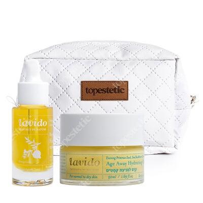 Lavido Replenishing Facial Serum + Age Away Hydrating Cream ZESTAW Odmładzające i rozświetlające serum 30 ml + Nawilżający krem anti-aging 50 ml + Kosmetyczka