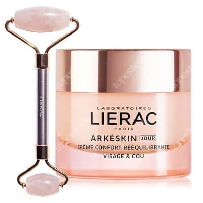 Lierac Arkeskin Cream + Pink Roller ZESTAW Krem na dzień przywracający komfort i równowagę 50 ml + Roller z różowego kwarcu 1 szt