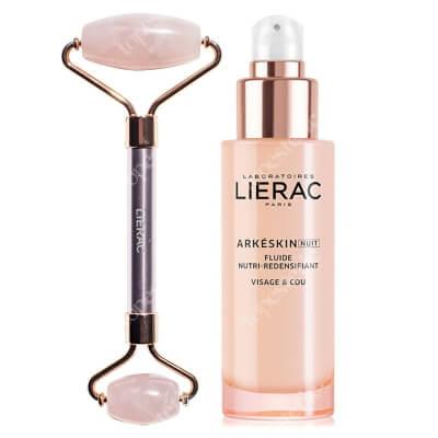Lierac Arkeskin Night Emulsion + Pink Roller ZESTAW Odżywcza emulsja na noc przywracająca gęstość 50 ml + Roller z różowego kwarcu 1 szt