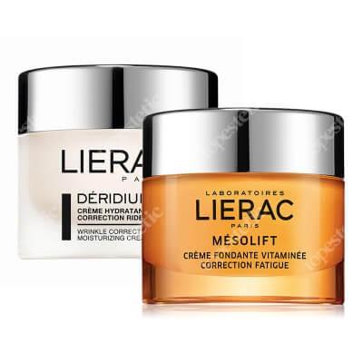 Lierac Mesolift Cream + Deridium Wrinkle Correction ZESTAW Krem korygujący objawy zmęczenia 50 ml + Krem nawilżający 50 ml
