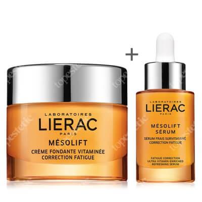 Lierac Mesolift Cream + Mesolift Serum ZESTAW Krem korygujący objawy zmęczenia 50 ml + Serum witaminowe, korygujące objawy zmęczenia 30 ml