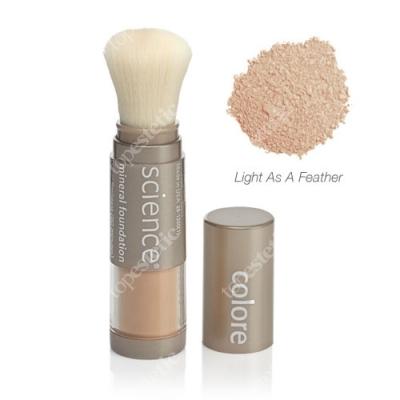 Colorescience Loose Mineral Foundation Brush Minerały w pędzlu SPF 20 - kolor Light As A Feather (jasny ciepły) 6 g