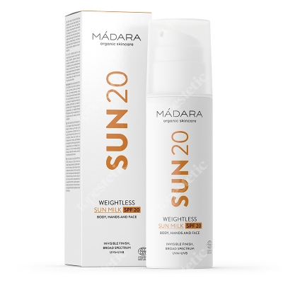 Madara Weightless Sun Milk SPF 20 Lekkie mleczko do opalania z filtrem 150 ml