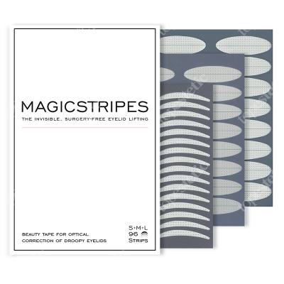 Magicstripes Magicstripes S+M+L Zestaw niewidocznych pasków liftingujących powieki (rozmiar S+M+L) 96 pasków