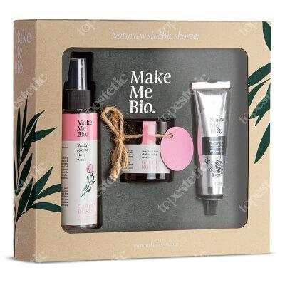 Make Me Bio Garden Roses 2019 ZESTAW Hydrolat z róży damasceńskiej 100 ml + Nawilżający krem dla skóry suchej i wrażliwej 60 ml + Regeneracyjny krem do rąk 30 ml