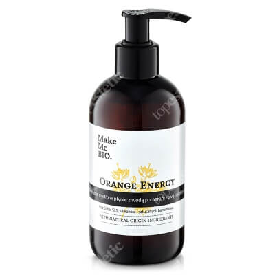 Make Me Bio Orange Energy Soap Delikatne mydło w płynie z wodą pomarańczową i olejkami 250 ml