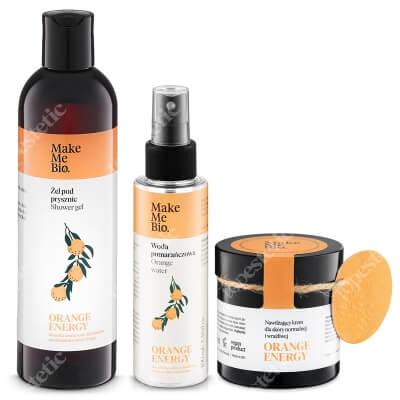 Make Me Bio Orange Set ZESTAW Żel pod prysznic 300 ml + Woda pomarańczowa 100 ml + Nawilżający krem dla skóry normalnej i wrażliwej 60 ml