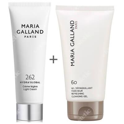 Maria Galland Refreshing Cleansing Gel (60) + Hydra Global Light Cream (262) ZESTAW Odświeżający żel do mycia 150 ml + Lekki krem nawilżający dla cer mieszanych 50 ml
