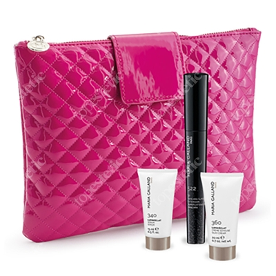 Maria Galland Travel Set Lumin'eclat ZESTAW Super Extension Mascara 10 ml + Rozświetlające serum młodości 15 ml + Rozświetlający krem młodości 20 ml + Kosmetyczka