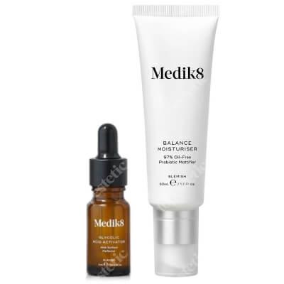 Medik8 Balance Moisturiser with Glycolic Acid Probiotyczny krem matujący z kwasami AHA 50 ml + Aktywator 1 szt