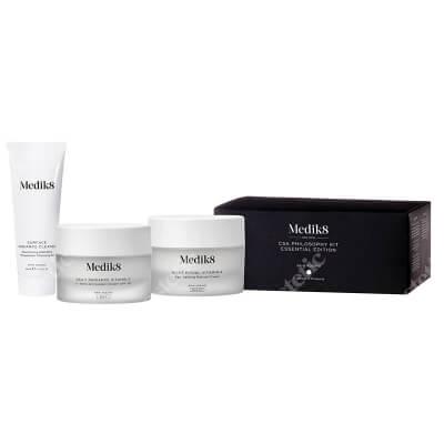 Medik8 Csa Philosophy Essential Edition For Men ZESTAW Żel oczyszczający 40 ml + Krem antyoksydacyjny C-Tetra SPF 30, 50 ml + Krem z retinolem 50 ml
