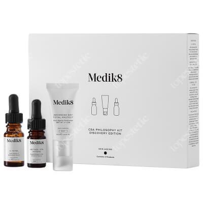 Medik8 Csa Philosophy Kit Discovery Edition ZESTAW Serum z witaminą C 10 ml + Krem nawilżający SPF 30 15 ml + Serum z witaminą A 5 ml