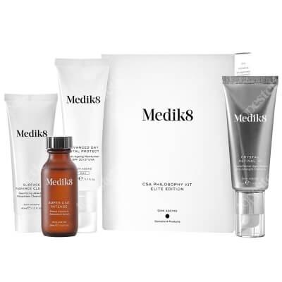 Medik8 Csa Philosophy Kit Elite Edition ZESTAW Serum z witaminą C 30 ml + Krem nawilżający SPF 30 50 ml + CRYSTAL RETINAL 10™ 30 ml + Żel oczyszczający 40 ml