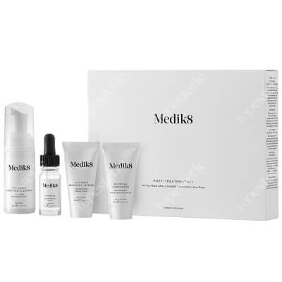 Medik8 Post Treatment Kit ZESTAW Pianka chlorofilowa 40 ml + Serum 10 ml + Odżywczy krem naprawczy 15 ml + Krem przeciwsłoneczny 15 ml
