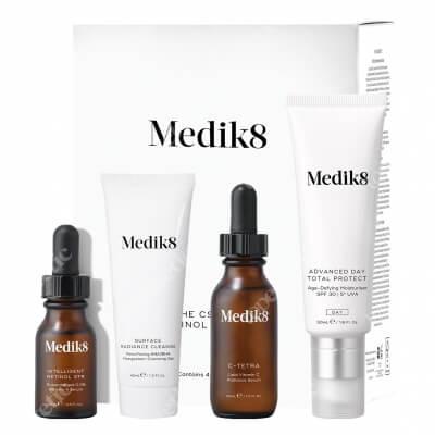 Medik8 The Csa Kit Retinol Edition ZESTAW Żel oczyszczający 40 ml + Serum z witaminą C 30 ml + Krem nawilżający 50 ml + Serum z wit. A 0,3 % 15 ml