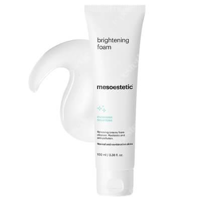 Mesoestetic Brightening Foam Kremowa pianka myjąca z kwasami AHA do skóry normalnej i mieszanej 100 ml