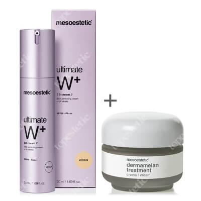 Mesoestetic Dermamelan & Ultimate W+ Whitening Cream BB Medium ZESTAW Krem na przebarwienia 30 g + Krem BB - kolor Medium 50 ml