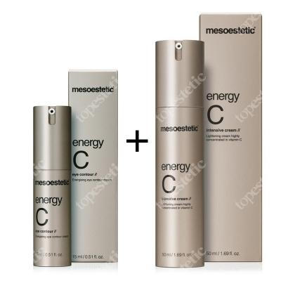Mesoestetic Energy C Set ZESTAW Intensywnie rozświetlający krem pod oczy 15 ml + Krem do twarzy 50 ml