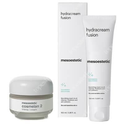 Mesoestetic Hydracream Fusion + Cosmelan 2 ZESTAW Równoważący i przeciwdziałający zanieczyszczeniom krem - olejek do mycia twarzy 100 ml + Krem na przebarwienia 30 g