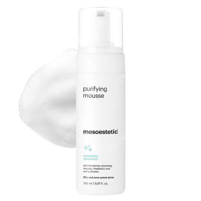 Mesoestetic Puryfying Mousse Równoważąca i przeciwdziałająca zanieczyszczeniom pianka do mycia twarzy do skóry tłustej i trądzikowej 150 ml