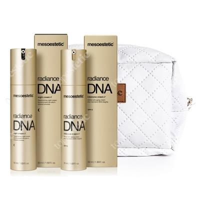 Mesoestetic Radiance DNA Set ZESTAW Krem na noc 50 ml + Krem na dzień 50 ml + Kosmetyczka 1 szt.