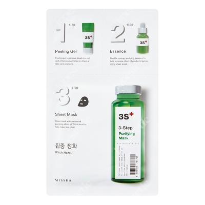 Missha 3 Step Purifying Mask 3 stopniowa kuracja oczyszczająca 1,5 g + 25 g + 1,5 g
