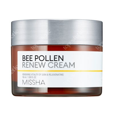 Missha Bee Pollen Renew Cream Wzmacniający krem stworzony na bazie ekstraktu z pyłku pszczelego 50 ml