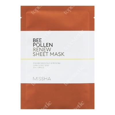 Missha Bee Pollen Renew Sheet Mask Nawilżająca maseczka w płachcie na bazie ekstraktu z pyłku pszczelego 25 ml