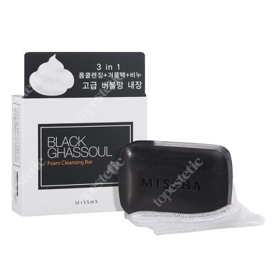 Missha Black Ghassoul Foam Cleansing Bar Mydło z marokańską glinką mineralną 80 g