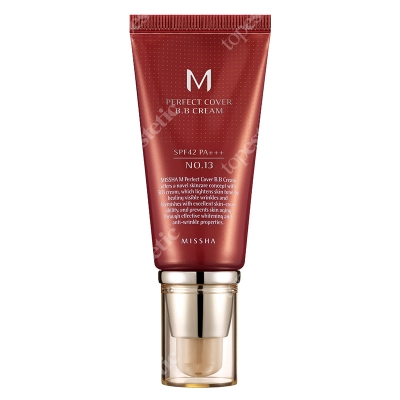 Missha Perfect Cover BB Cream SPF42/PA+++ No 13 Krem BB chroniący przed promieniami UV (kolor Bright Beige) 50 ml