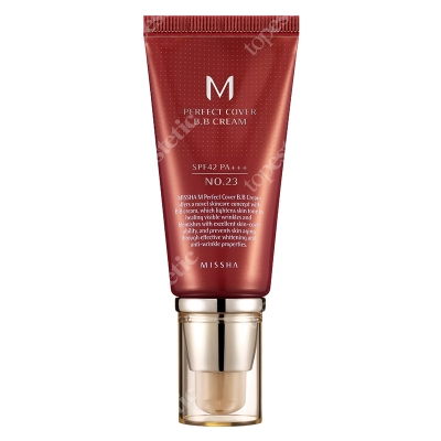 Missha Perfect Cover BB Cream SPF42/PA+++ No 23 Krem BB chroniący przed promieniami UV (kolor Natural Beige) 50 ml