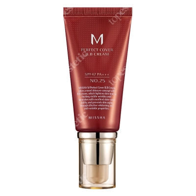 Missha Perfect Cover BB Cream SPF42/PA+++ No 25 Krem BB chroniący przed promieniami UV (kolor Warm Beige) 50 ml