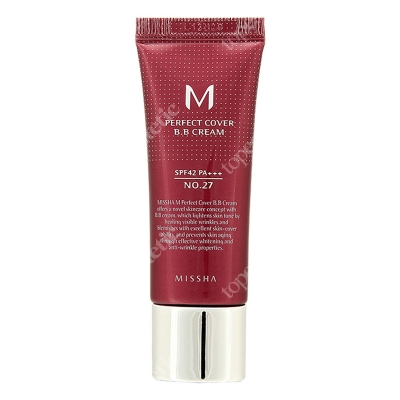 Missha Perfect Cover BB Cream SPF42/PA+++ No 27 Krem BB chroniący przed promieniami UV (kolor Honey Beige) 20 ml
