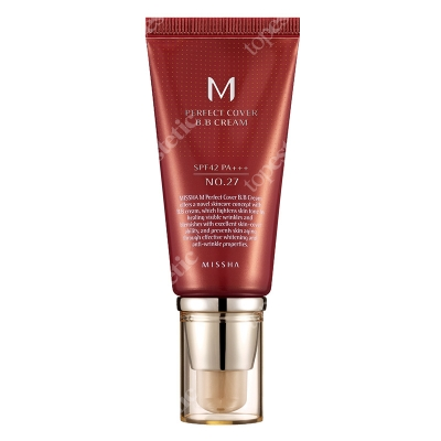 Missha Perfect Cover BB Cream SPF42/PA+++ No 27 Krem BB chroniący przed promieniami UV (kolor Honey Beige) 50 ml
