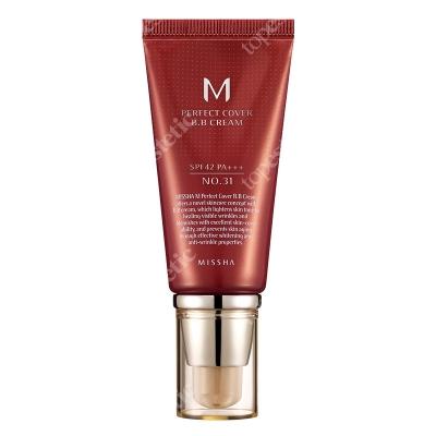 Missha Perfect Cover BB Cream SPF42/PA+++ No 31 Krem BB chroniący przed promieniami UV (kolor Golden Beige) 50 ml