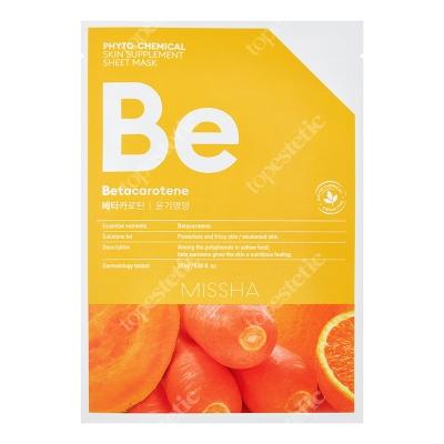 Missha Phytochemical Skin Supplement Sheet Mask (Betacarotene) Maseczka w pomarańczowej płachcie 25 ml