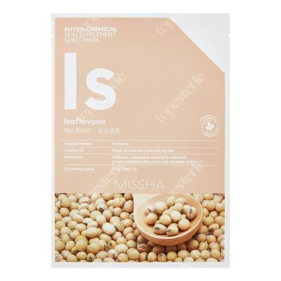 Missha Phytochemical Skin Supplement Sheet Mask (Isoflavone) Maseczka w białej płachcie, rozświetla oraz zapobiega utracie wilgoci 25 ml