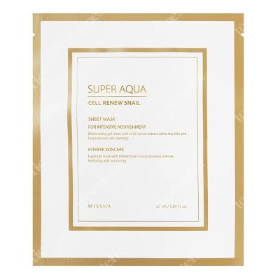 Missha Super Aqua Cell Renew Snail Hydro Gel Mask Nawilżająca i odbudowująca skórę maseczka ze śluzu ślimaka 28 g